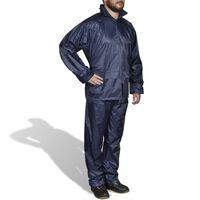 Pánský 2 dílný oblek do deště s kapucí, velikost XL, námořnická modrá