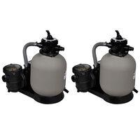 vidaXL Písková filtrační čerpadla 2 ks 600 W 17 000 l/h