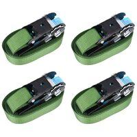 vidaXL Ráčnové upínací pásy 4 ks 800 daN 6 m zelené