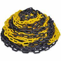 Plastový výstražný řetěz žluto-černý, 30 m