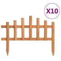 vidaXL Travní lemy 10 ks jedlové dřevo 4,4 m