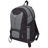 vidaXL Outdoorový batoh 40 l černý a šedý