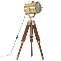 vidaXL Stojací lampa na stativu masivní mangovníkové dřevo 69 cm