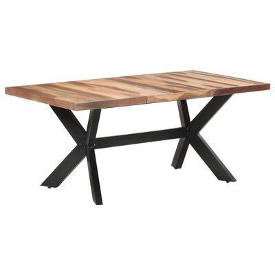 vidaXL Jídelní stůl 180 x 90 x 75 cm masivní dřevo sheeshamový vzhled