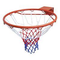 vidaXL Sada basketbalové obroučky se síťkou oranžová 45 cm