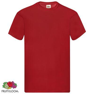 Fruit of the Loom Originální trička 5 ks červená XXL bavlna