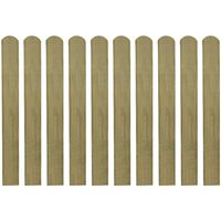 vidaXL Impregnované plotovky 10 ks dřevo 80 cm