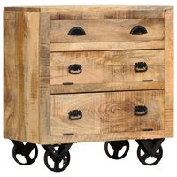 vidaXL Odkládací skříňka s koly 70 x 40 x 75 cm masivní mangovník