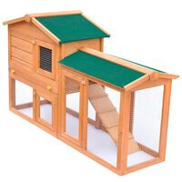 vidaXL Zahradní králikárna/domek pro drobná zvířata dřevěná