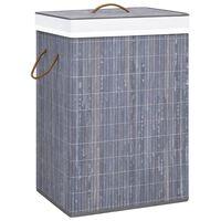 vidaXL Bambusový koš na prádlo šedý 72 l