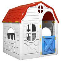 vidaXL Skládací dětský domeček s funkčními dveřmi a okny