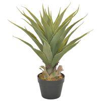vidaXL Umělá rostlina juka s květináčem zelená 60 cm