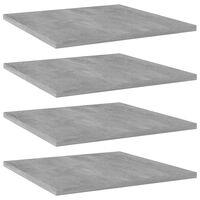 vidaXL Přídavné police 4 ks betonově šedé 40 x 40 x 1,5 cm dřevotříska
