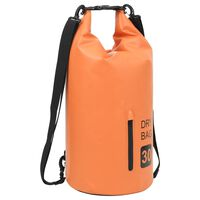 vidaXL Nepromokavý vak se zipem oranžový 30 l PVC