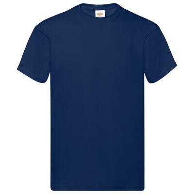 Fruit of the Loom Originální trička 10 ks námořnicky modrá 5XL bavlna