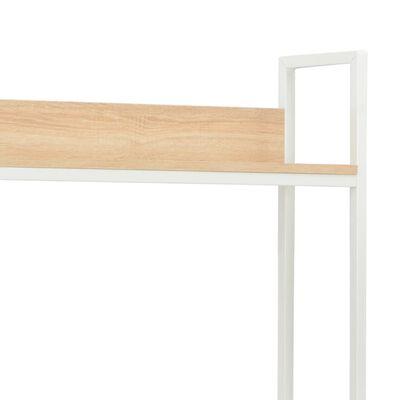 vidaXL PC stůl bílý a dubový odstín 120 x 60 x 138 cm