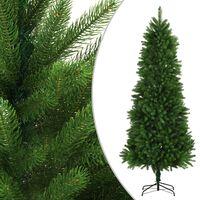 vidaXL Umělý vánoční stromek s realistickým jehličím 240 cm zelený