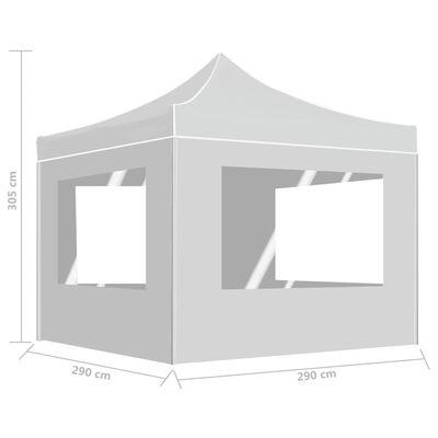 vidaXL Profesionální skládací party stan + stěny hliník 3 x 3 m bílý