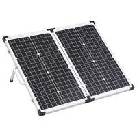 vidaXL Skládací solární kufřík 60 W 12 V