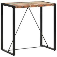 vidaXL Barový stůl 110 x 60 x 110 cm masivní recyklované dřevo