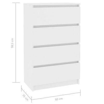 vidaXL Příborník bílý 60 x 35 x 98,5 cm dřevotříska