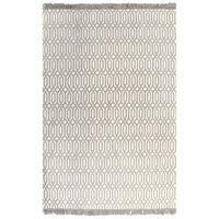 vidaXL Koberec Kilim se vzorem bavlněný 120 x 180 cm barva taupe