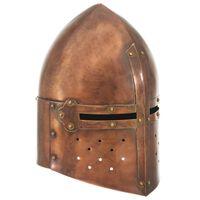 vidaXL Středověká rytířská přilba pro LARPy replika měděná ocel