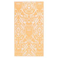 vidaXL Venkovní koberec oranžový a bílý 190 x 290 cm PP