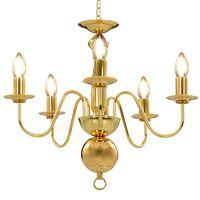 vidaXL Lustr zlatý 5 x žárovky E14