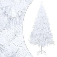 vidaXL Umělý vánoční stromek s hustými větvemi bílý 210 cm PVC