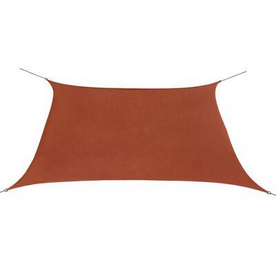 vidaXL Plachta proti slunci z oxfordské látky čtvercová 2x2 m cihlová