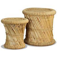 vidaXL Stoličky 2 ks bambus a juta