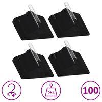 vidaXL 100 ks šatních ramínek protiskluzové černé samet
