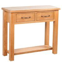 vidaXL Konzolový stolek 2 zásuvky 83 x 30 x 73 cm masivní dubové dřevo