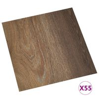 vidaXL Self-adhesive Flooring Planks 55 pcs PVC 5,11 m² Brown