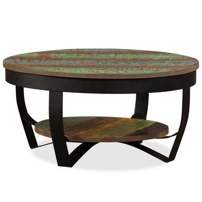 vidaXL Konferenční stolek masivní recyklované dřevo 65 x 32 cm