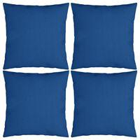 vidaXL Dekorační polštáře 4 ks královsky modré 50 x 50 cm textil
