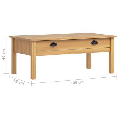 vidaXL Konferenční stolek Hill Range medově hnědý 100x55x40cm borovice