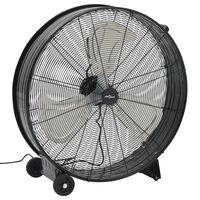 vidaXL Průmyslový bubnový ventilátor 77 cm 180 W černý