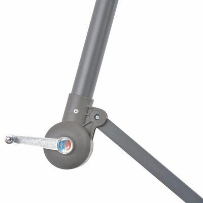 vidaXL Konzolový slunečník s hliníkovou tyčí 350 cm terakotový
