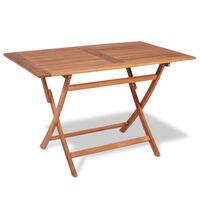 vidaXL Skládací zahradní stůl 120 x 70 x 75 cm masivní teakové dřevo