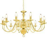vidaXL Lustr zlatý 12 x žárovky E14