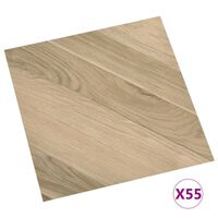 vidaXL Self-adhesive Flooring Planks 55 pcs PVC 5,11 m² Brown Striped