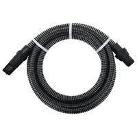vidaXL Sací hadice s PVC konektory 7 m 22 mm černá