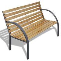 vidaXL Zahradní lavice 120 cm dřevo a železo