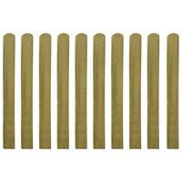 vidaXL Impregnované plotovky 10 ks dřevo 100 cm