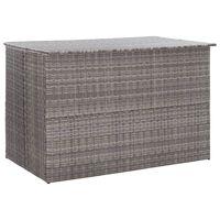 vidaXL Zahradní úložný box šedý 150 x 100 x 100 cm polyratan