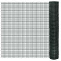 vidaXL Pletivo ke kurníku pozinkované PVC vrstva 25 x 1 m zelené