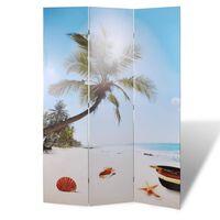 vidaXL Skládací paraván 120 x 170 cm pláž
