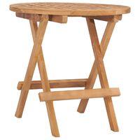 vidaXL Skládací zahradní stolek 50 x 50 x 50 cm masivní teakové dřevo
